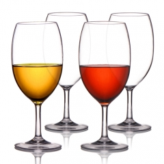 MICHLEY Unbreakable Wine Glasses, 100% Tritan Plastic Shatterproof Wine Glasses, BPA-free, Dishwasher-safe 20 oz