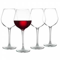 MICHLEY Unbreakable Red Wine Glasses 17 oz, Tritan Plastic Reusable Stemware for Indoor and Outdoor Use