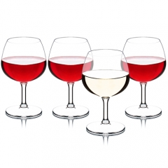 MICHLEY Unbreakable Stemmed Wine Glasses, 100% Tritan Plastic Brandy Snifter Glasses, BPA-free & Dishwasher Safe 8.8 oz
